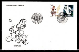 Sweden, Scott cat. 1460-1461. Europa & Ballet issue. First day cover. ^