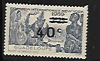 GUADELOUPE, 160, MINT HINGED, EXPOSITION NEW YORK 1939
