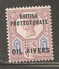 Niger Coast Protectorate SC 5  Mint  Hinged