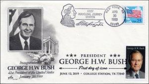 Bush15, 1989, George H. W. Bush President Inauguration Cover, New York NY
