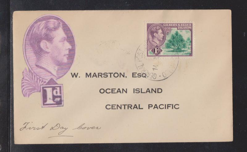 Rarely Seen - 1939 Gilbert & Ellice Islands FDC