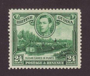 1938 Br Guiana 24c Wmk Script Upright Mounted Mint SG312