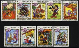 Anguilla 547-55 MNH Disney, Dickens Christmas Stories, Clock