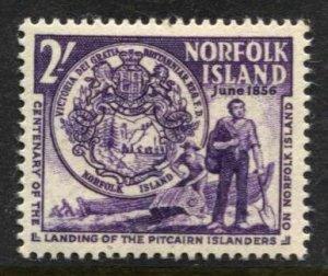 STAMP STATION PERTH Norfolk Island #20 First Settlers MVLH - CV$2.00