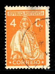 PORTUGAL 192?  ALBERGARIA A VELHA  Date Stamp on Mi.408 4c Orange CERES