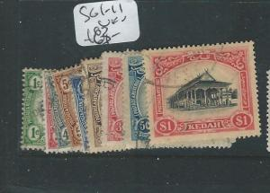 MALAYA KEDAH (P0410B) SG 1-11 SET TO $1.00  VFU