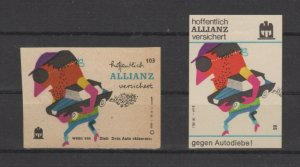Germany - Pair of Advertising Stamps for Allianz Insurance Company, NG