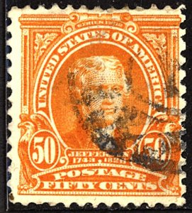 U.S. #310 Used Thins Corner crease