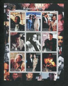 2000 Tajikistan Commemorative Souvenir Stamp Sheet - Actor Robert de Niro
