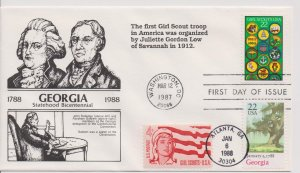 Girl Scout Cachets  –  FDC 1987 – DRC 3 of 30   #G09