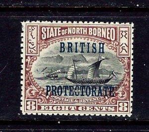 North Borneo 111 MNH 1901 Overprint