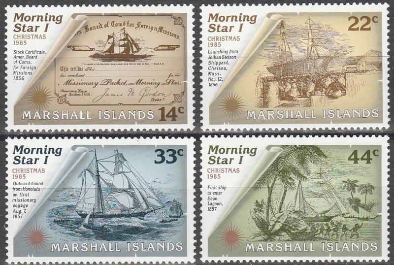 Marshall Islands #82-5 MNH (A15564)
