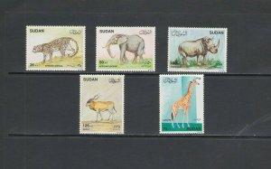 SUDAN : Sc. 382-86 / *** Beautiful WILDLIFE***/ Complete Set of 5 / MNH