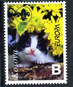 Kosovo 2000 DOMESTIC CAT Scouts emblem 1 value Perforated Mint (NH)