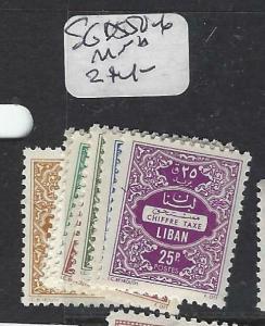 LEBANON (P1604B)  POSTAGE DUE SG D 550-6       MNH