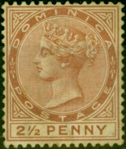 Dominica 1879 2 1/2d Red-Brown SG6 Good Mtd Mint