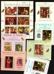 Panama 11 MNH s/s Art Painting religious music ship angel madonna high CV $$