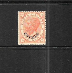 ITALIAN  PO ABROAD  1874-78  2L  VERMILLION   MH       Sc 11