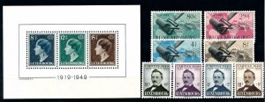 Luxembourg Luxemburg 1949 Complete Year Set MNH