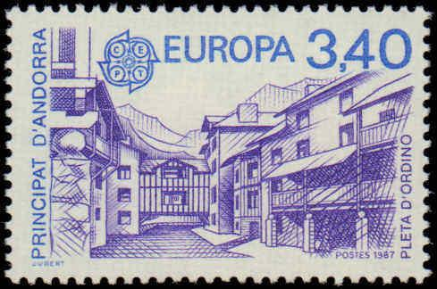 1987 Andorra, French #352-353, Complete Set(2), Never Hinged