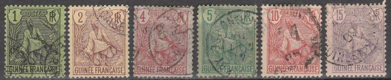 French Guinea #18-23 F-VF  Used  CV $13.50 (A12999)