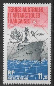 FRENCH SOUTHERN & ANTARCTIC TERRITORIES SG194 1984  PATROL BOAT MNH