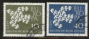 Germany Scott 844-845 Used 1961 Europa set