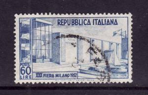 D1-Italy-Sc#600-used-60 lire-Milan Fair-1952-