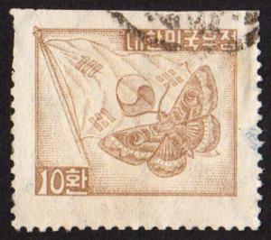 Korea (South) #202A  u - 1954 moth - flag