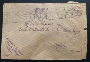 1942 France Concentration Internment Camp Bordelongue prisoner Cover To Redcross