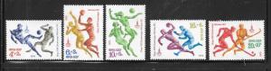 Russia #B91-B95   1980 Olympics  set complete  (MLH) CV$1.80