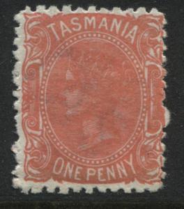 Tasmania 1871 1d rose perf 12  mint o.g.