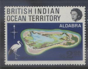 B.I.O.T. -Scott -34 - Aldabra Atoll -1969- MNH-  Multi - Single 2.25r Stamp