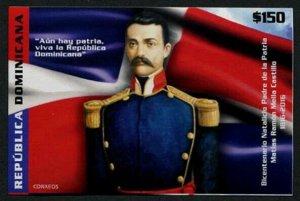 HERRICKSTAMP NEW ISSUES DOMINICAN REPUBLIC Sc.# 1597 Martias Ramon Mella S/S