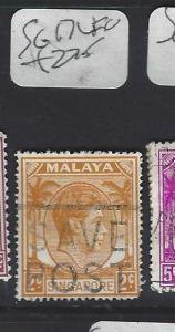 SINGAPORE (PP0502B)  KGVI  2C  SG 17  VFU