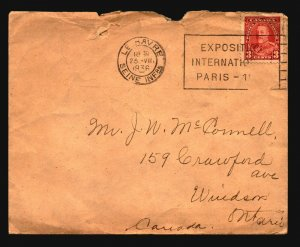 Canada 1936 Cover / French Franking Paquebot (1) - Z16778