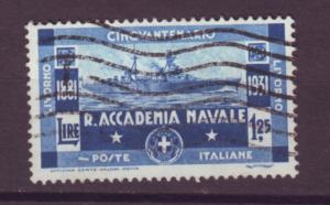 J21481 Jlstamps 1931 italy hv of set used #267 navy ship