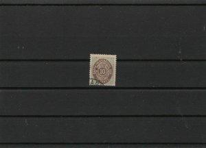danish west indies 1873 cat £180 used  stamp ref r9681