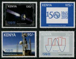 HERRICKSTAMP NEW ISSUES KENYA Sc.# 889-92 Int'l Telecommunications Union