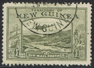 NEW GUINEA 1939 BULOLO AIRMAIL 1 POUNDS USED
