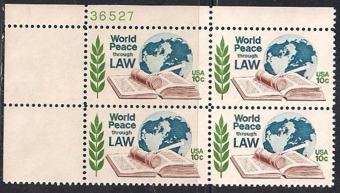Us 1576 Mnh 68 Stamps World Peace Through Law 6 80 Face