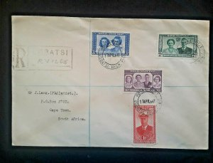 1947 Bechuanaland Protectorate To Cape Town South Africa Royal Visit Cover