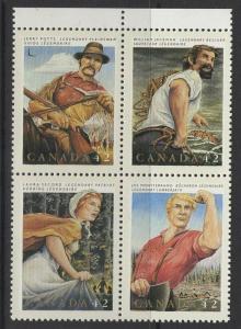 CANADA SG1505a 1992 FOLK HEROES MNH