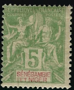 Senegambia & Niger #4 Mint OG F-VF hr...Fill out your French Colony spaces!
