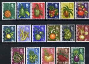 Montserrat 1965 Fruit & Plants definitive set of 17 v...
