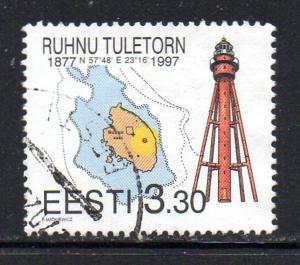 Estonia Sc 318 1997 Ruhnu Lighthouse stamp used