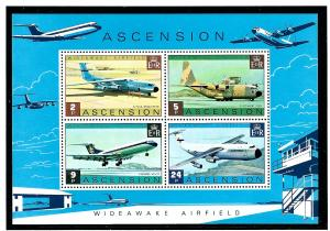 Ascension Is 185-88 MNH 1975 Airplanes S/S