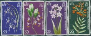 New Hebrides 1973 SG174-177 Orchids set MNH