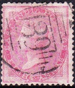 INDIA 1856 QV 8 Anna's Pale-Carmine Die I SG49 Used