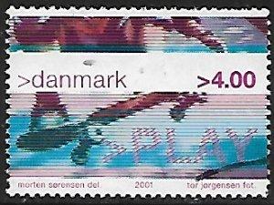 Denmark # 1206 - Skateboarding - used  {Dk2}